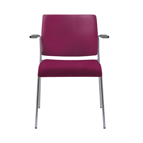 Tuck Upholstered 4-Leg Arm Chair