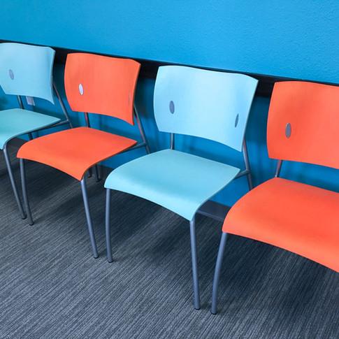 #87 The Parfait Armless Waiting Room Chair