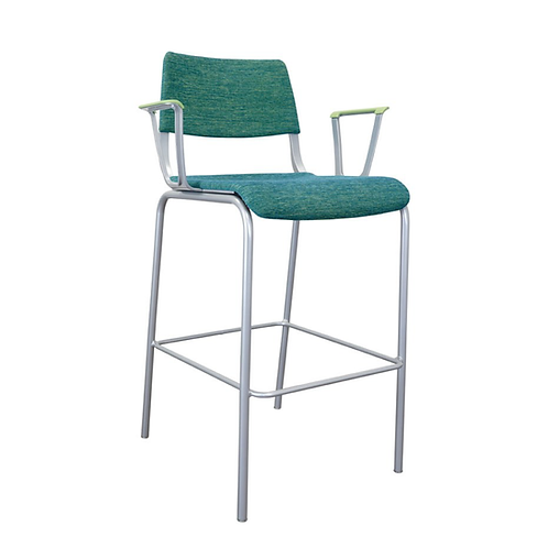 Arc Upholstered Arm Stool