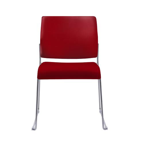 Tuck Armless Upholstered Sled Base Chair