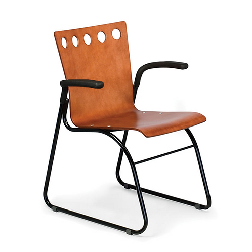 Golf Sled Base Arm Chair