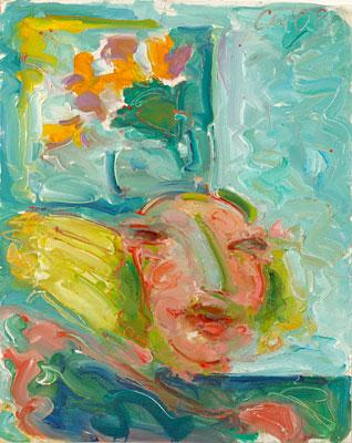 Woman in Greek Bedroom #2