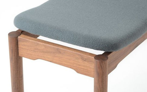 walnut bench with danish wool