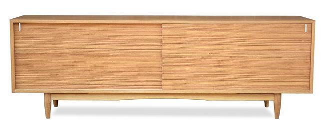 modern zebrawood media cabinet