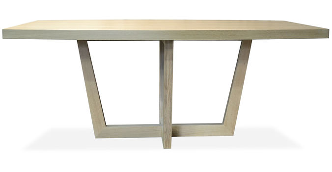 modern white oak dining table