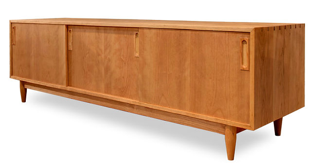 modern cherry wood credenza
