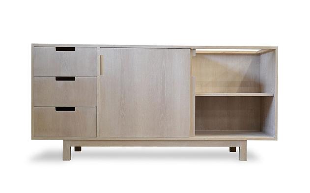 modern white oak vanity