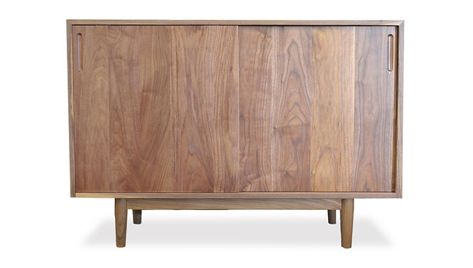 modern handmade record cabinet