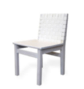 white oak webbed dining chair