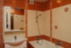 Ремонт в ванной комнате. Укладка плитки