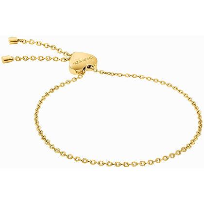 CALVIN KLEIN Side Stainless Steel Gold Bracelet