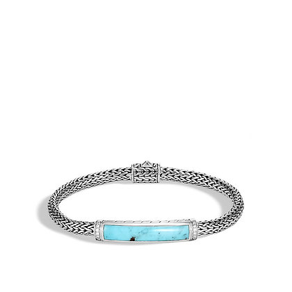 JOHN HARDY Classic Chain Station Bracelet with Turquoise and Diamond M 5mm