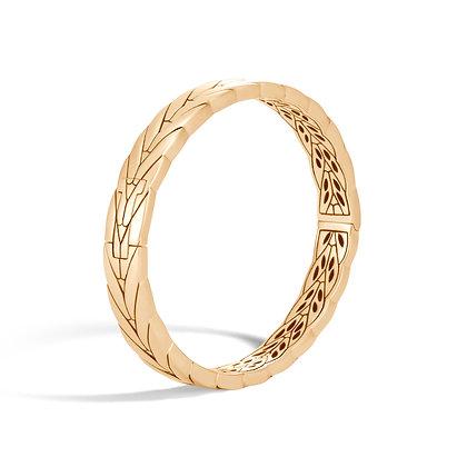 JOHN HARDY Modern Chain 18K Gold Small Hinged Bangle Sz M