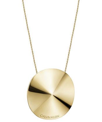 CALVIN KLEIN Spinner Stainless Steel Gold Necklace