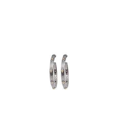 Konstantino Spike Hoop L Earrings