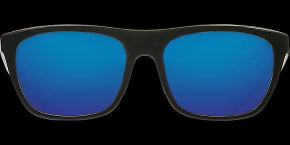 COSTA DEL MAR CHEECA SHINY BLACK/BLUE MIRROR SUNGLASSES