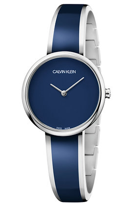 CALVIN KLEIN Watch Seduce Two Tone Stainless Steel/ Blue resin Bracelet