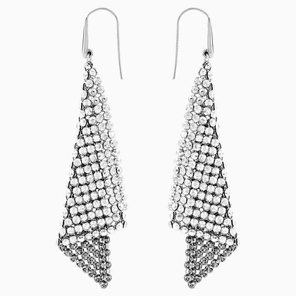 SWAROVSKI Fit Pierced Earrings, Gray, Rhodium plated