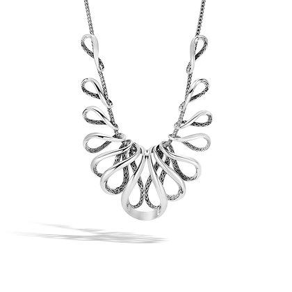 JOHN HARDY Classic Chain Silver Mini Chain Necklace 2.5mm Sz 16-18 Adj