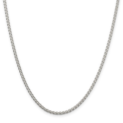 "QG Sterling Silver 2.5mm Round Spiga 20"" Chain"