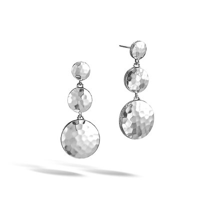 JOHN HARDY Dot Triple Drop Hammered Earring