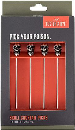 Pick Set - Skull Cocktail