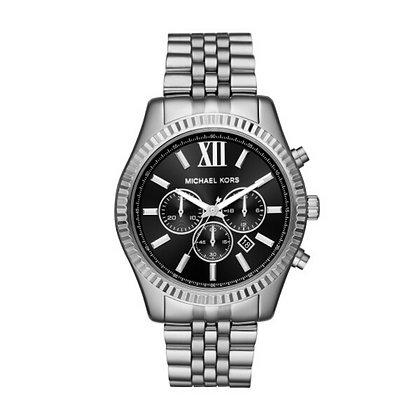 MICHAEL KORS  Lexington Chronograph Silver Watch