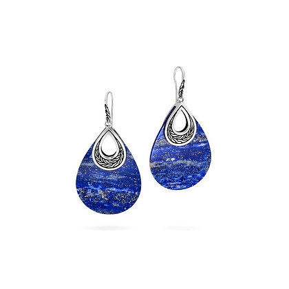 JOHN HARDY Classic Chain Teardrop Earring with Lapis Lazuli