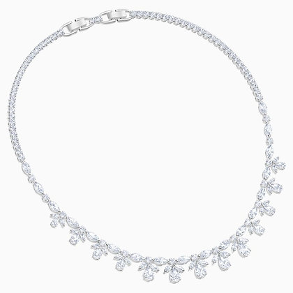 SWAROVSKI Palace Necklace, White, Rhodium plated
