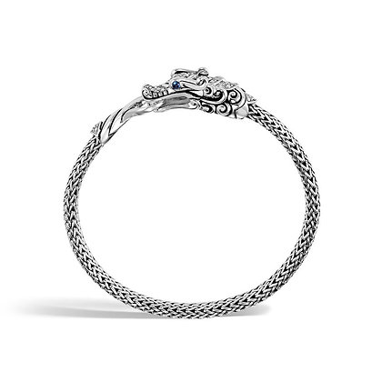 JOHN HARDY Classic Chain Station Bracelet with Diamond M 5mm