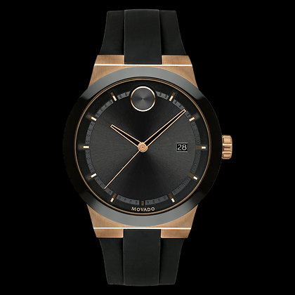 MOVADO BOLD FUSION Black Dial Bronze ion plated