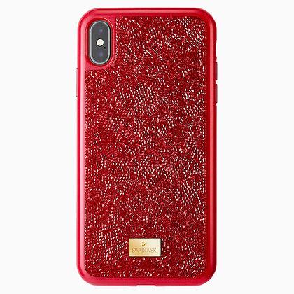 SWAROVSKI Glam Rock Smartphone Case, iPhone XS Max, Red