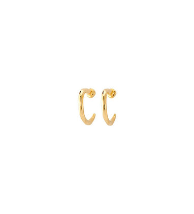 UNOde50 GOLD NAIL EARRINGS