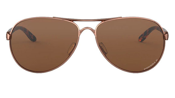 OAKLEY FEEDBACK ROSE GOLD/PRIZM TUNGSTEN POLARIZED SUNGLASSES