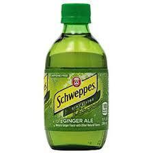 Schweppes Ginger Ale 10oz Bottle