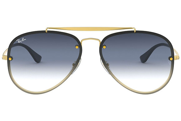 RAYBAN Blaze Aviator Demi Gloss Gold with blue lens