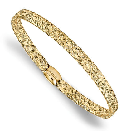 QG Leslie's 14K Fancy Stretch Mesh Bangle Bracelet
