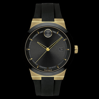 MOVADO BOLD FUSION Black Dial Yellow Gold ion plated