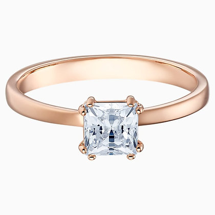 SWAROVSKI Attract Motif Ring, White, Rose-gold tone plated. Size 5,6,7,8 and 9
