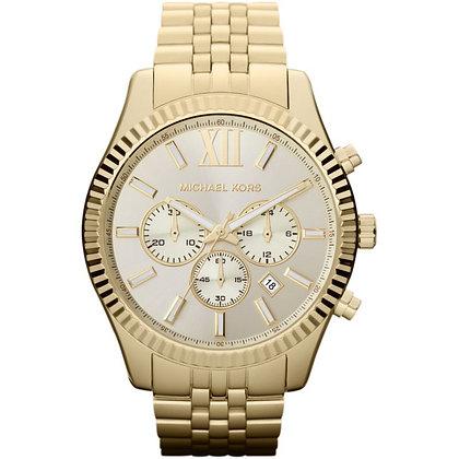 MICHAEL KORS  Gold-Tone Lexington Men's Watch