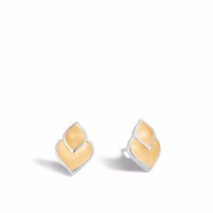 JOHN HARDY Legends Naga 18k Gold & Silver Stud Earrings