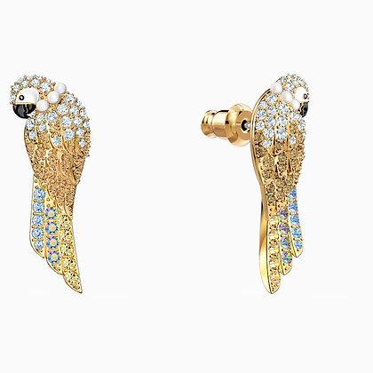 SWAROVSKI Tropical Parrot Pierced Earrings, Light multi-coloured