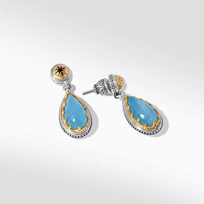 Konstantino Aurora Aquamarine Drop Earrings