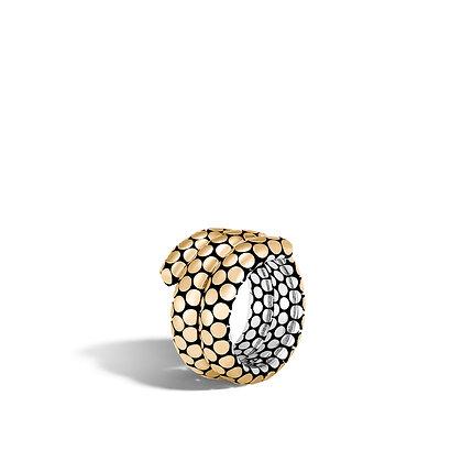 JOHN HARDY Dot 2T Double Coil Ring Sz7