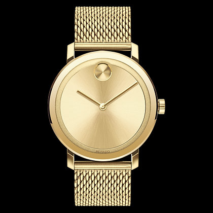 MOVADO BOLD EVOLUTION Yellow Gold Sunray Dial Matching sunray dot and hands