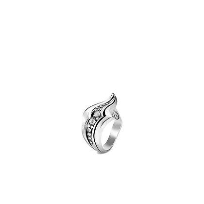 JOHN HARDY Lahar Ring with Diamonds SZ 7