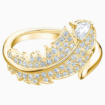 SWAROVSKI Nice Motif Ring, White, Gold-tone plated Size 8.