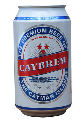 Caybrew Lager 335ml Cans in a 24 Case
