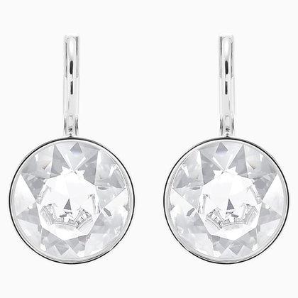 SWAROVSKI Bella Mini Earrings, White, Rhodium plated
