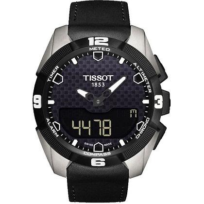 TISSOT T-TOUCH EXPERT SOLAR MEN'S Analog-Digital Black Dial Titanium